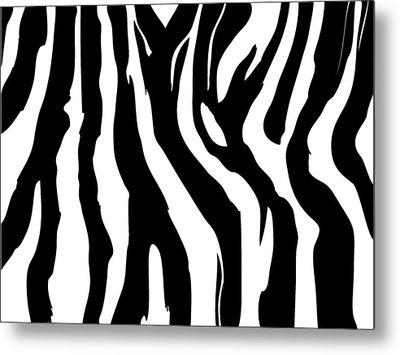 Zebra Print 001 Metal Print by Kenneth Feliciano