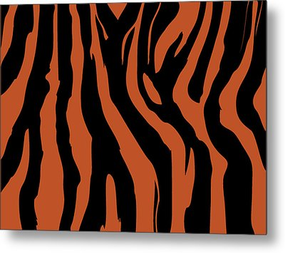 Zebra Print 003 Metal Print by Kenneth Feliciano