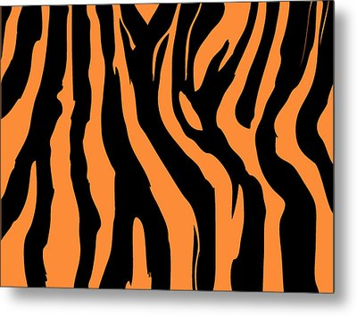 Zebra Print 004 Metal Print by Kenneth Feliciano
