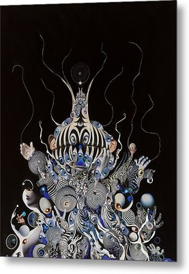 Metal Print featuring the mixed media Zebratiki by Douglas Fromm