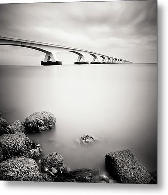 Zeelandbridge II Metal Print by Nina Papiorek
