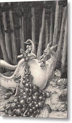 Zelma And The Not-quite-a-dragon Metal Print by Richard Moore