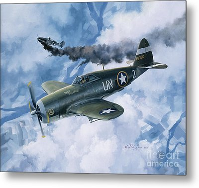 Zemke's Thunder Metal Print by Randy Green
