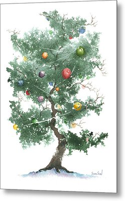 Zen Christmas Tree Metal Print by Sean Seal