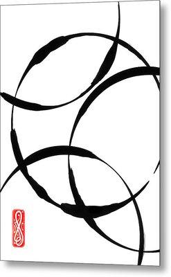 Zen Circles Metal Print by Hakon Soreide
