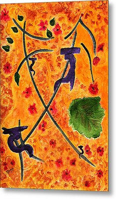Metal Print featuring the painting Zen Garden by Paula Ayers