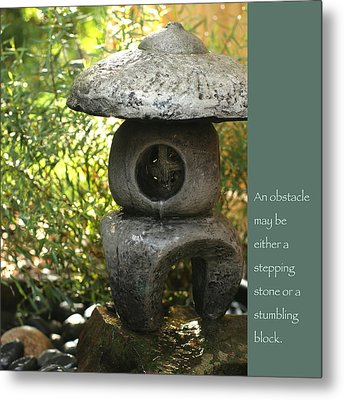 Zen Garden With Quote Metal Print by Heidi Hermes