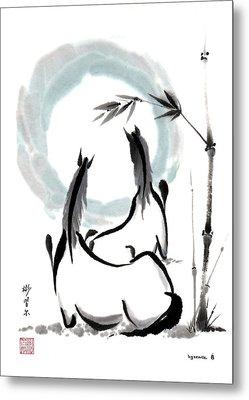 Zen Horses Into The Vortex Metal Print