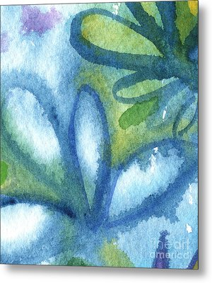 Zen Leaves Metal Print by Linda Woods