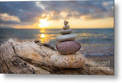Zen Stones Metal Print by Aged Pixel