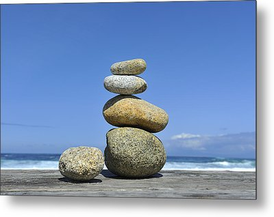 Zen Stones I Metal Print by Marianne Campolongo