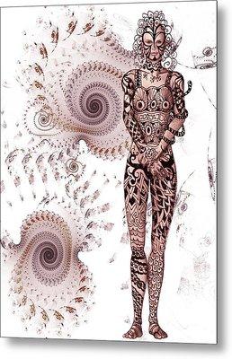 Zen Tangles Metal Print