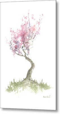 Zen Tree In Spring Metal Print by Sean Seal
