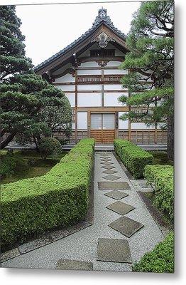 Zen Walkway - Kyoto Japan Metal Print