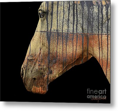 Zeniah Variation 1 Metal Print by Judy Wood