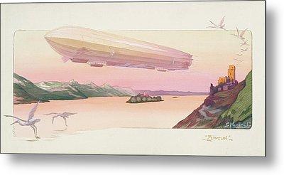 Zeppelin, Published Paris, 1914 Metal Print by Ernest Montaut
