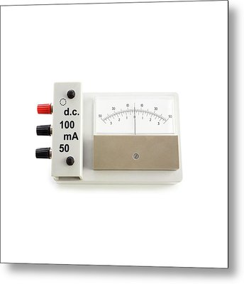 Zero-centre Ammeter Metal Print