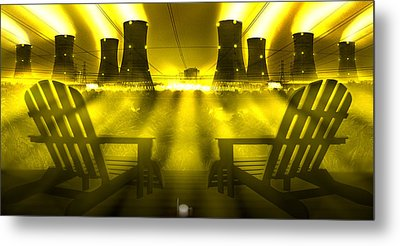 Zero Hour In Yellow Metal Print by Mike McGlothlen