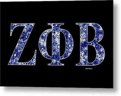 Zeta Phi Beta - Black Metal Print by Stephen Younts