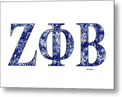 Zeta Phi Beta - White Metal Print by Stephen Younts