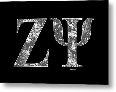 Zeta Psi - Black Metal Print by Stephen Younts