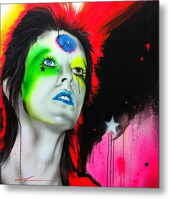 Ziggy Played Guitar Metal Print