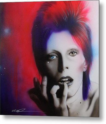 David Bowie - ' Ziggy Stardust ' Metal Print by Christian Chapman