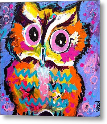 Ziggy The Great Horned Owl Metal Print