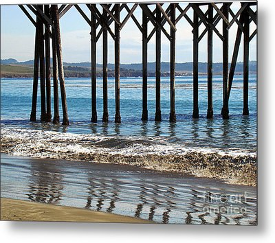 Zigzag Reflections Metal Print