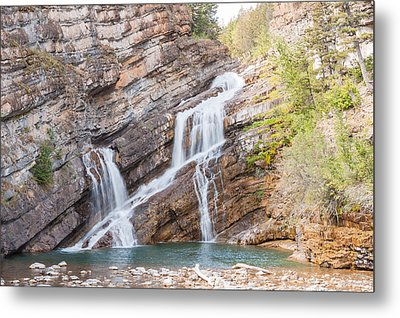 Metal Print featuring the photograph Zigzag Waterfall by John M Bailey