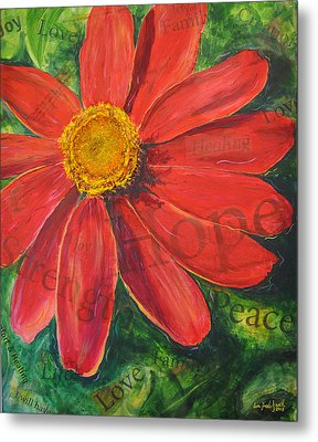 Zinnia Of Hope Metal Print