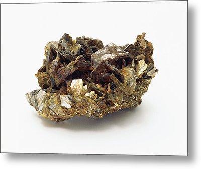 Zinnwaldite Crystals Metal Print by Dorling Kindersley/uig