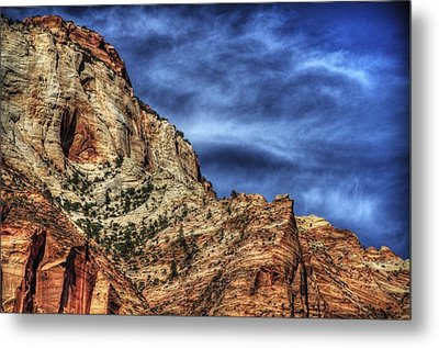 Zion Face 695 Metal Print by Jerry Sodorff