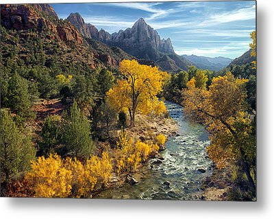 Zion National Park In Fall Metal Print