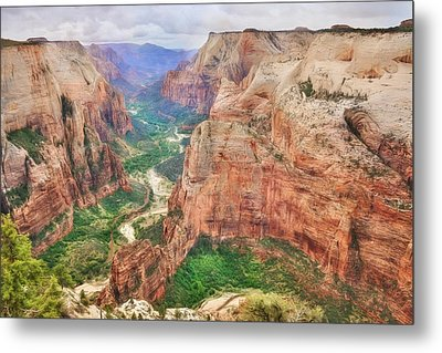 Zion National Park Metal Print by Lori Deiter
