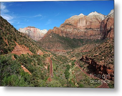 206p Zion National Park Metal Print by NightVisions