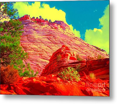 Zion Rising Metal Print by Ann Johndro-Collins