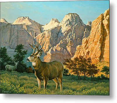 Zioncountry Muleys Metal Print by Paul Krapf