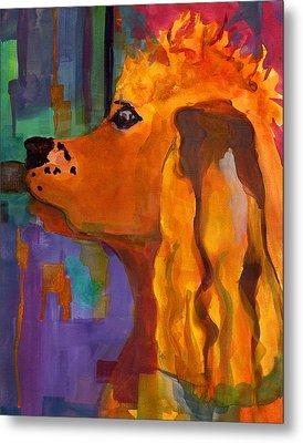 Zippy Dog Art Metal Print by Blenda Studio