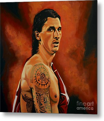 Zlatan Ibrahimovic Painting Metal Print by Paul Meijering
