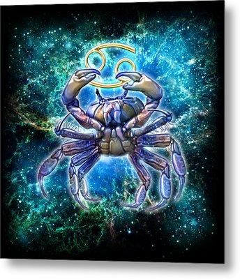 Zodiac Cancer Metal Print by Ciro Marchetti