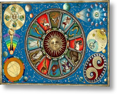 Zodiac Colour Metal Print by Garry Walton