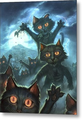Zombie Cats Metal Print by Jeff Haynie