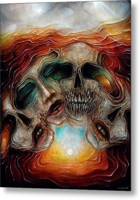 Zombie Flower Metal Print by Robert Anderson