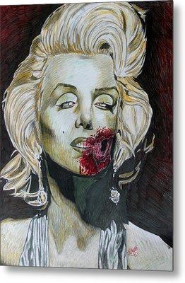 Zombie Marilyn Metal Print
