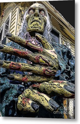 Zombie Metal Print by Robyn King