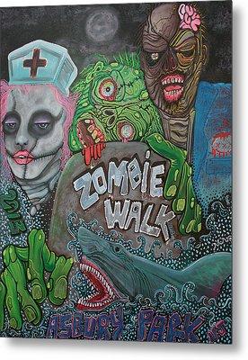 Zombie Walk Metal Print by Laura Barbosa