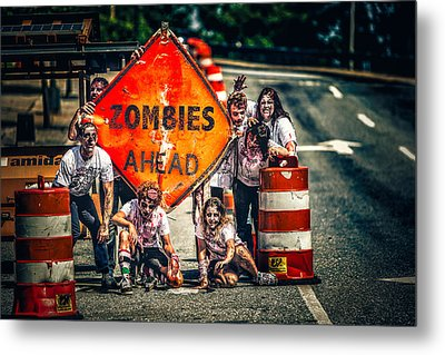 Metal Print featuring the photograph Zombies Ahead by Joshua Minso
