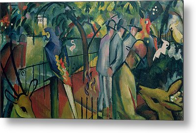 Zoological Garden I, 1912 Oil On Canvas Metal Print by August Macke