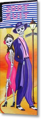 Metal Print featuring the painting Zoot Suit by Evangelina Portillo